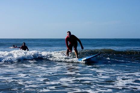 Surfing Tamarindo Beach