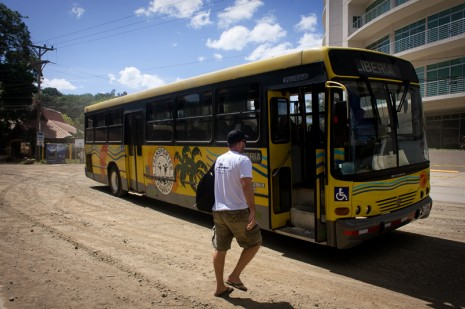 Local bus from Tamarindo to Liberia