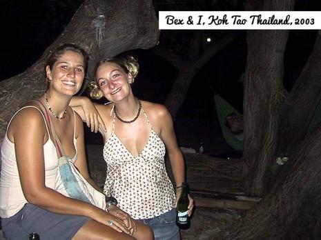 Bex & I in Koh Tao, Thailand, 2003