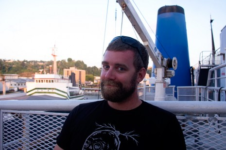 Mike on the Ferry in Fiji