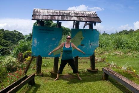 Straddling the international dateline – Taveuni, Fiji
